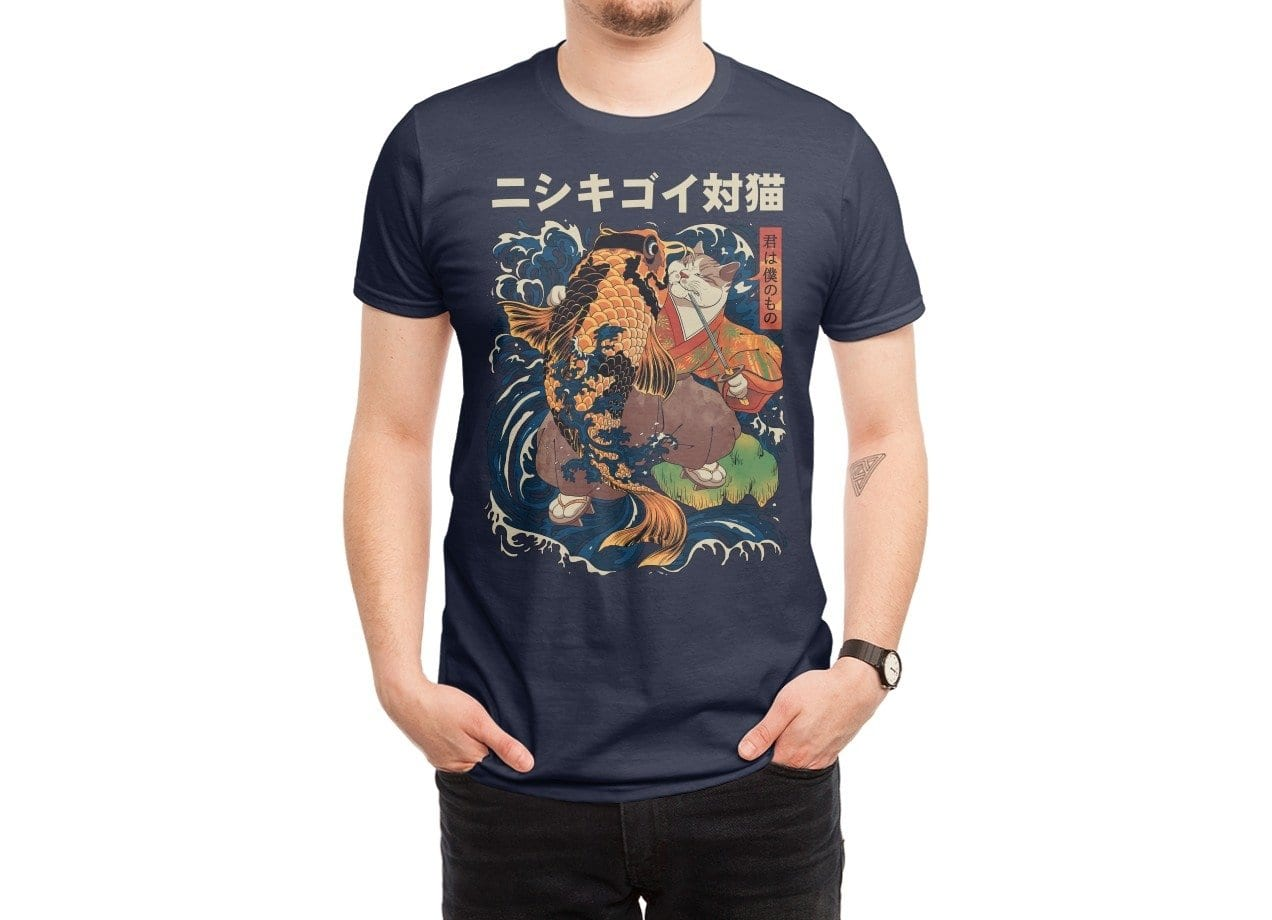 The cat and the koi by roni saptoni mens tee threadless for Shop mens t shirts