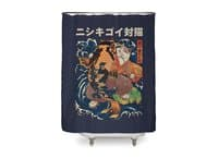 The Cat and the Koi - shower-curtain - small view