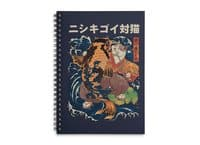 The Cat and the Koi - spiral-notebook - small view