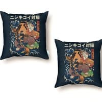 The Cat and the Koi - throw-pillow - small view