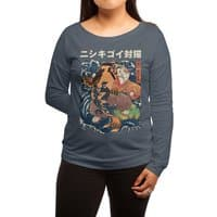 The Cat and the Koi - womens-long-sleeve-terry-scoop - small view