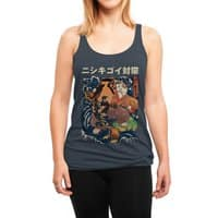 The Cat and the Koi - womens-triblend-racerback-tank - small view