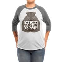 I'm Sorry For What I Said When I Was Hungry - triblend-34-sleeve-raglan-tee - small view