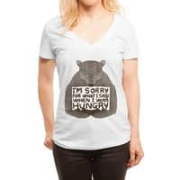 I'm Sorry For What I Said When I Was Hungry - womens-deep-v-neck - small view