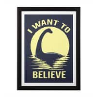 Believe in Nessie - black-vertical-framed-print - small view