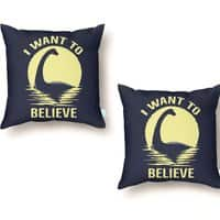 Believe in Nessie - throw-pillow - small view