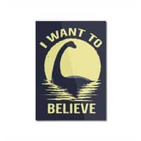 Believe in Nessie - vertical-mounted-aluminum-print - small view