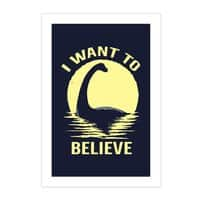 Believe in Nessie - vertical-print - small view