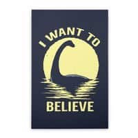 Believe in Nessie - vertical-stretched-canvas - small view