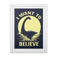 Believe in Nessie - white-vertical-framed-print - small view