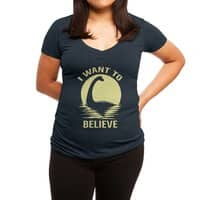 Believe in Nessie - womens-deep-v-neck - small view