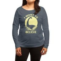 Believe in Nessie - womens-long-sleeve-terry-scoop - small view