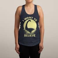 Believe in Nessie - womens-racerback-tank - small view