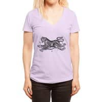 Tiger Skull - womens-deep-v-neck - small view