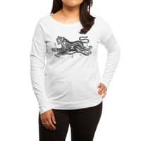Tiger Skull - womens-long-sleeve-terry-scoop - small view