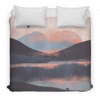 Adrift in the Mountains... - duvet-cover - small view