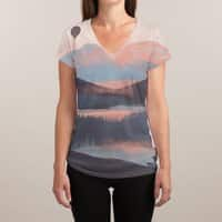 Adrift in the Mountains... - womens-sublimated-v-neck - small view