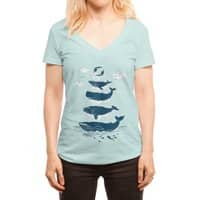 Whale of a Time - womens-deep-v-neck - small view