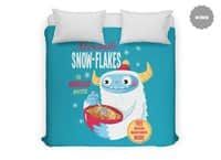Abominable Snow-Flakes - duvet-cover - small view