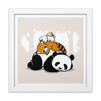 Comfy Bed - white-square-framed-print - small view