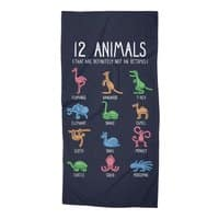 12 Animals (That Are Definitely Not An Octopus) - beach-towel - small view