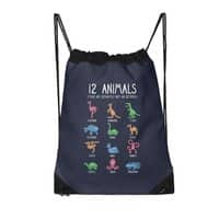 12 Animals (That Are Definitely Not An Octopus) - drawstring-bag - small view