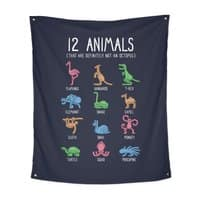12 Animals (That Are Definitely Not An Octopus) - indoor-wall-tapestry-vertical - small view