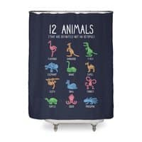 12 Animals (That Are Definitely Not An Octopus) - shower-curtain - small view
