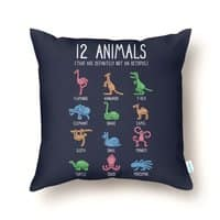 12 Animals (That Are Definitely Not An Octopus) - throw-pillow - small view