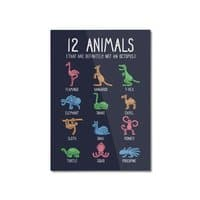 12 Animals (That Are Definitely Not An Octopus) - vertical-mounted-aluminum-print - small view