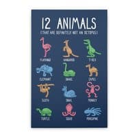 12 Animals (That Are Definitely Not An Octopus) - vertical-stretched-canvas - small view