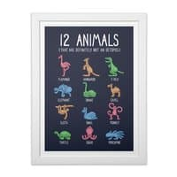 12 Animals (That Are Definitely Not An Octopus) - white-vertical-framed-print - small view