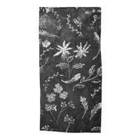 Flowers in Chalk... - beach-towel - small view