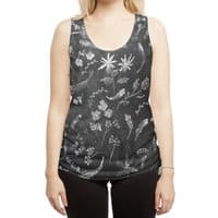 Flowers in Chalk... - womens-sublimated-racerback-tank - small view