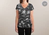 Flowers in Chalk... - womens-sublimated-v-neck - small view