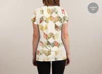 Keziah - Flowers - womens-sublimated-v-neck - small view