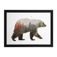Bear - black-horizontal-framed-print - small view