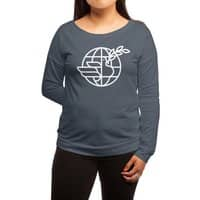 Peace in the World - womens-long-sleeve-terry-scoop - small view