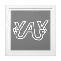 YAY - white-square-framed-print - small view