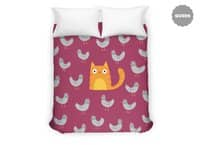 Cat Among The Pigeons - duvet-cover - small view