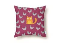 Cat Among The Pigeons - throw-pillow - small view