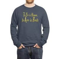 To Err Is Human, to Arr Is Pirate - crew-sweatshirt - small view