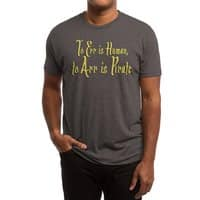 To Err Is Human, to Arr Is Pirate - mens-triblend-tee - small view