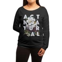 Act Natural - womens-long-sleeve-terry-scoop - small view