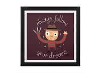 Always Follow Your Dreams - black-square-framed-print - small view