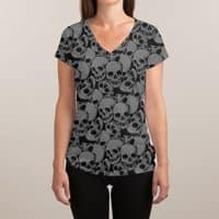 A Lot of Skulls - womens-sublimated-v-neck - small view