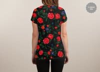 Dark Roses - womens-sublimated-v-neck - small view