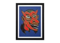 Devil Head - black-vertical-framed-print - small view