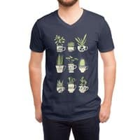 Teacup Succulents - vneck - small view