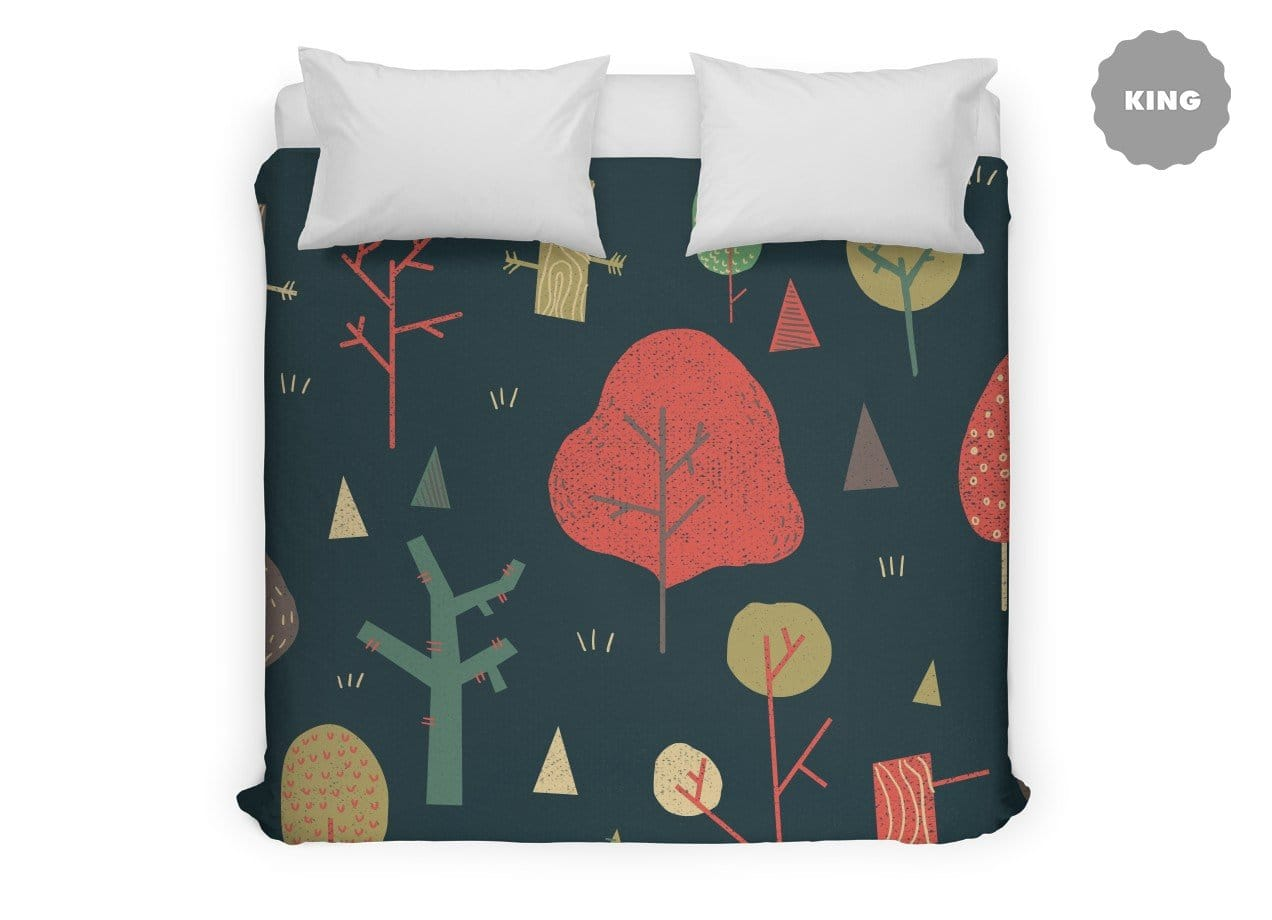 Forest Pattern By Katie Lukes Throw Pillow Threadless